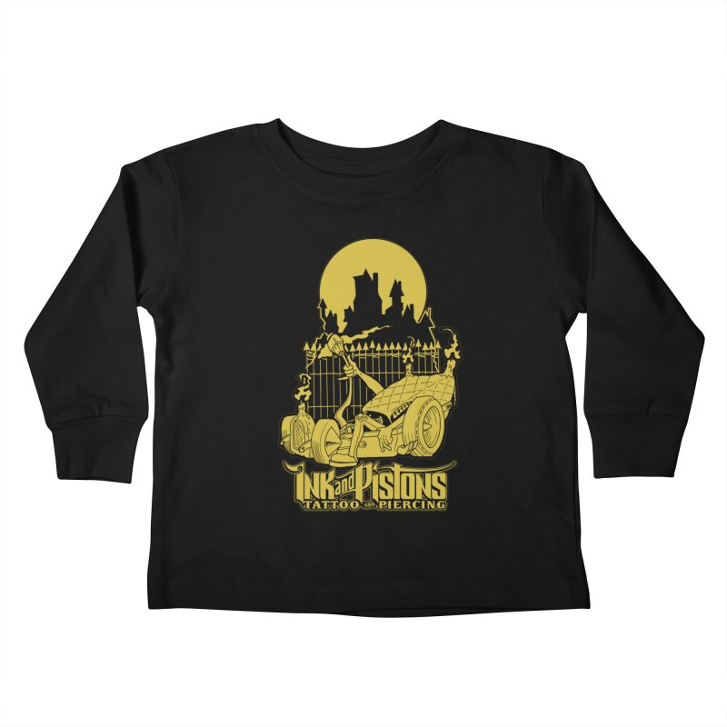 Ink and Pistons: @skud_007 Graveyard Dragster Kids Toddler Longsleeve T-Shirt by Ink and Pistons | SlushBox