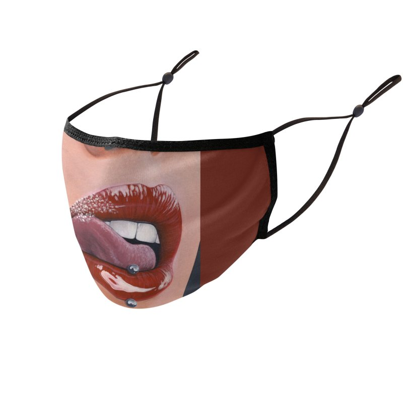 Ink and Pistons: Suga' Lips 2 Face Mask Accessories Face Mask by Ink and Pistons | SlushBox