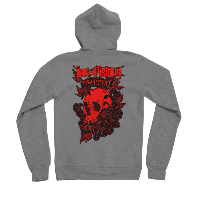 Ink and Pistons: Skull Mum Women's Zip-Up Hoody by Ink and Pistons | SlushBox