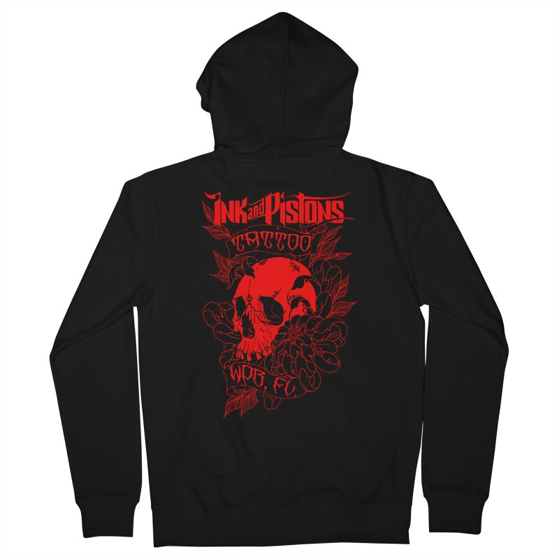 Ink and Pistons: Skull Mum Men's Zip-Up Hoody by Ink and Pistons | SlushBox