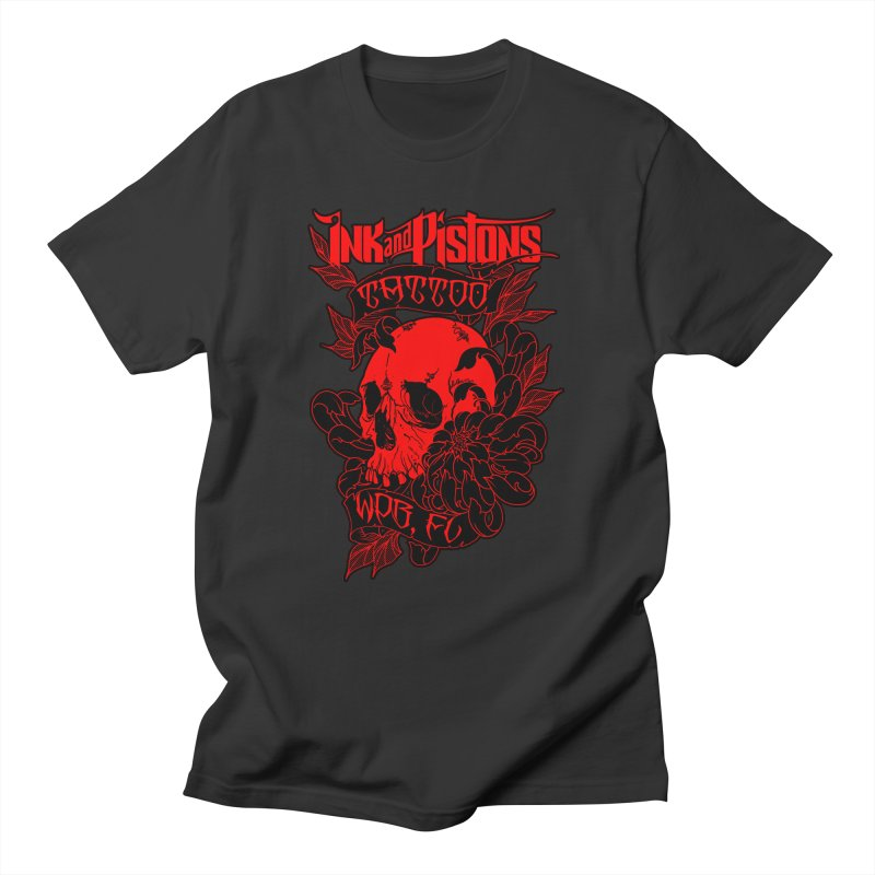 Ink and Pistons: Skull Mum Men's T-Shirt by Ink and Pistons   SlushBox