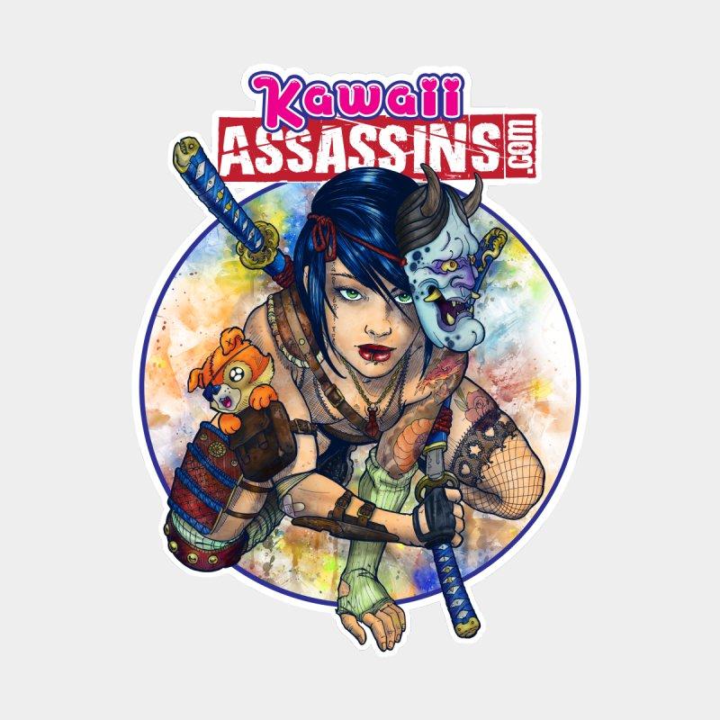 Kawaii Assassins Sticker Accessories Sticker by Ink and Pistons | SlushBox