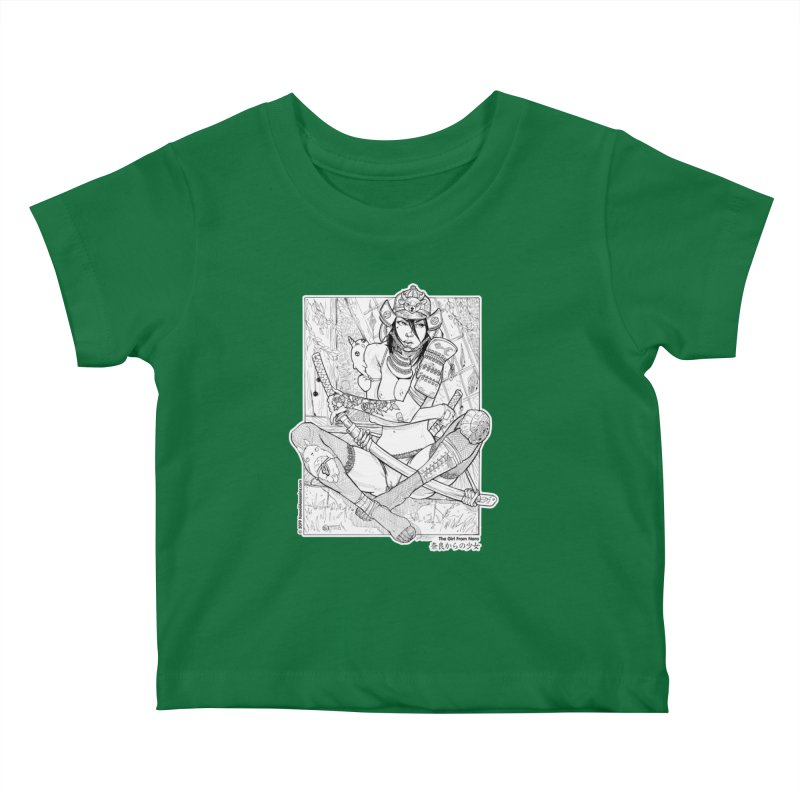Kawaii Assassins: The Girl From Nara Kids Baby T-Shirt by Ink and Pistons | SlushBox