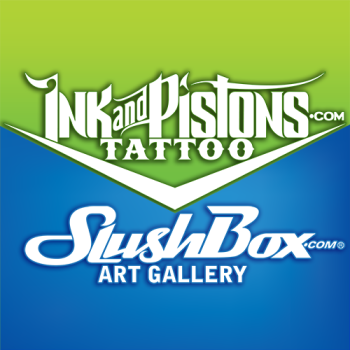 Ink and Pistons | SlushBox Logo