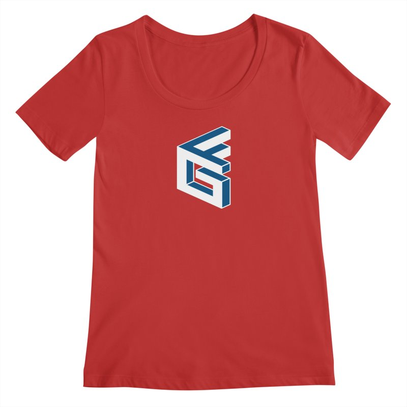 Fathergamer Merchandise Women's Scoop Neck by slvrhwks's Artist Shop