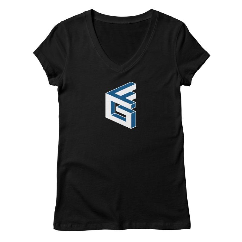 Fathergamer Merchandise Women's V-Neck by slvrhwks's Artist Shop