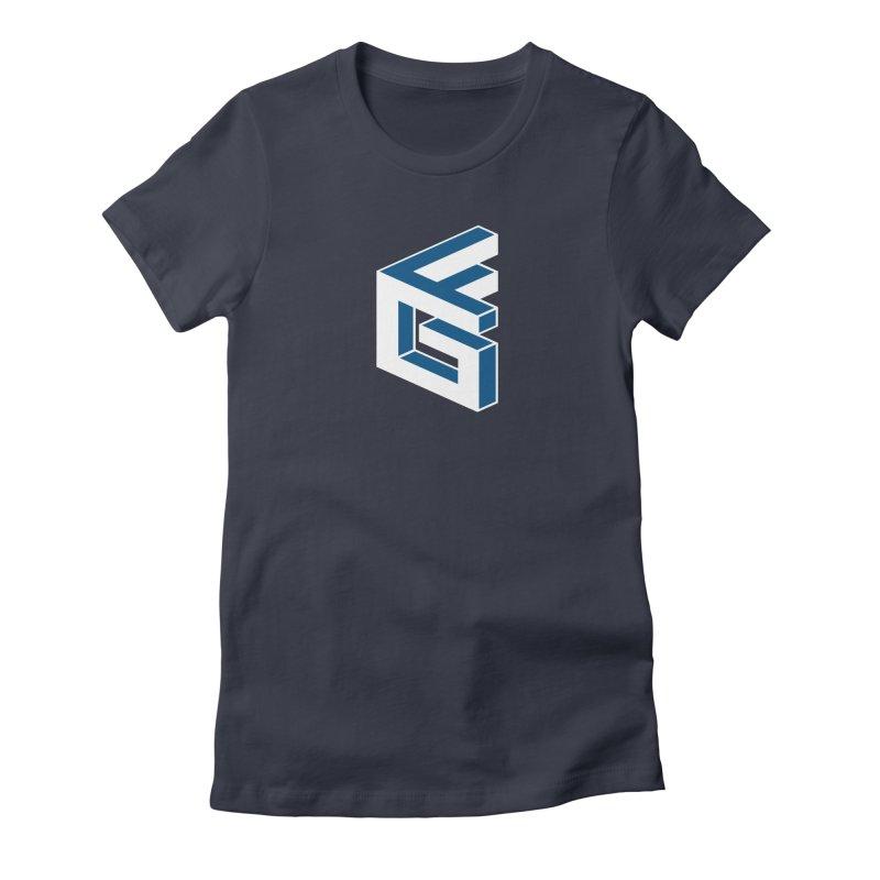 Fathergamer Merchandise Women's Fitted T-Shirt by slvrhwks's Artist Shop