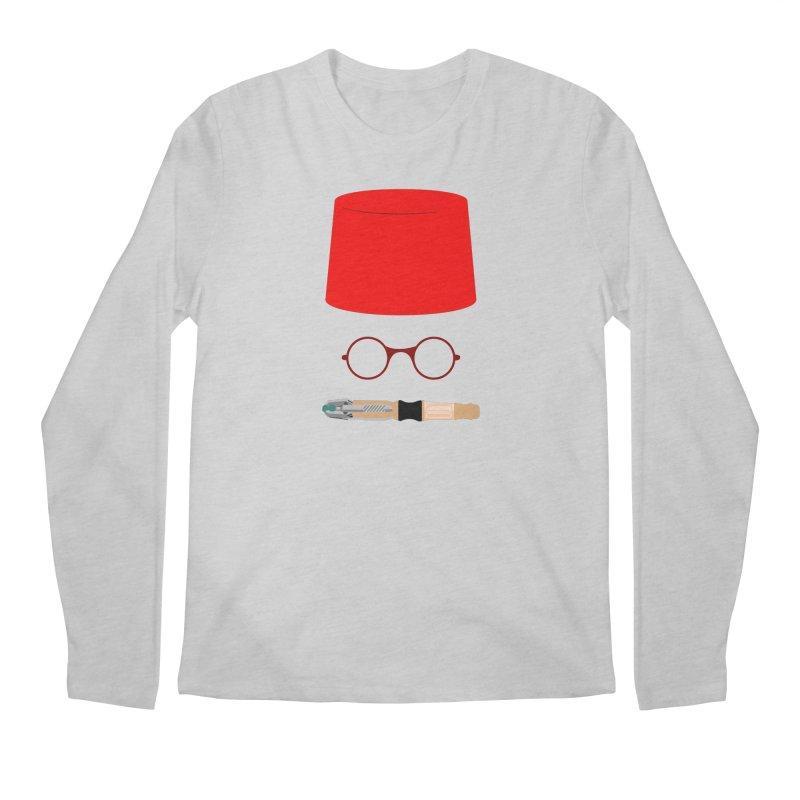 Tuxedo Who Men's Regular Longsleeve T-Shirt by slvrhwks's Artist Shop