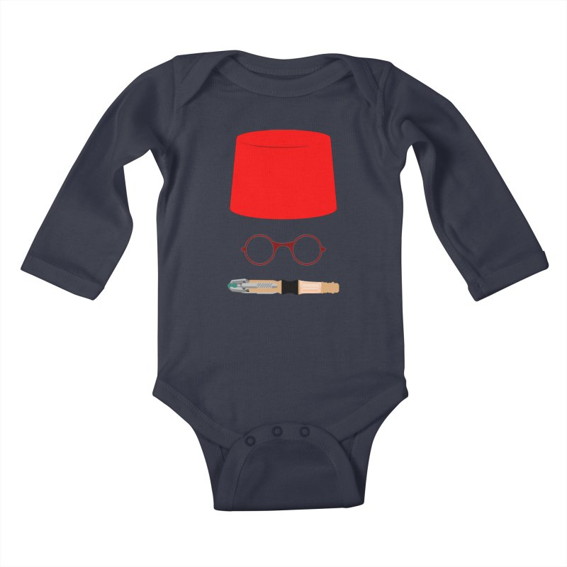 Tuxedo Who Kids Baby Longsleeve Bodysuit by slvrhwks's Artist Shop