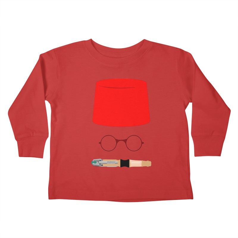 Tuxedo Who Kids Toddler Longsleeve T-Shirt by slvrhwks's Artist Shop