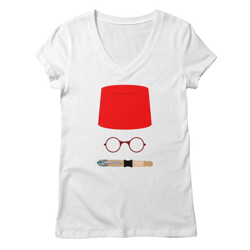 Tuxedo Who Women's V-Neck by slvrhwks's Artist Shop
