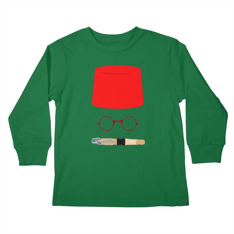 Tuxedo Who Kids Longsleeve T-Shirt by slvrhwks's Artist Shop