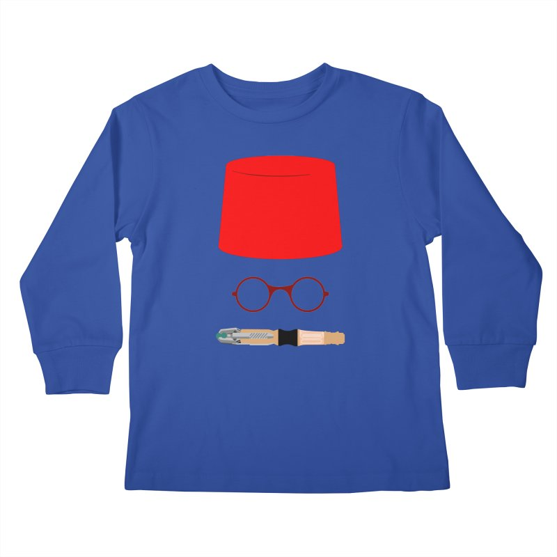 Tuxedo Who Kids Longsleeve T-Shirt by slvrhwks's Artist Shop