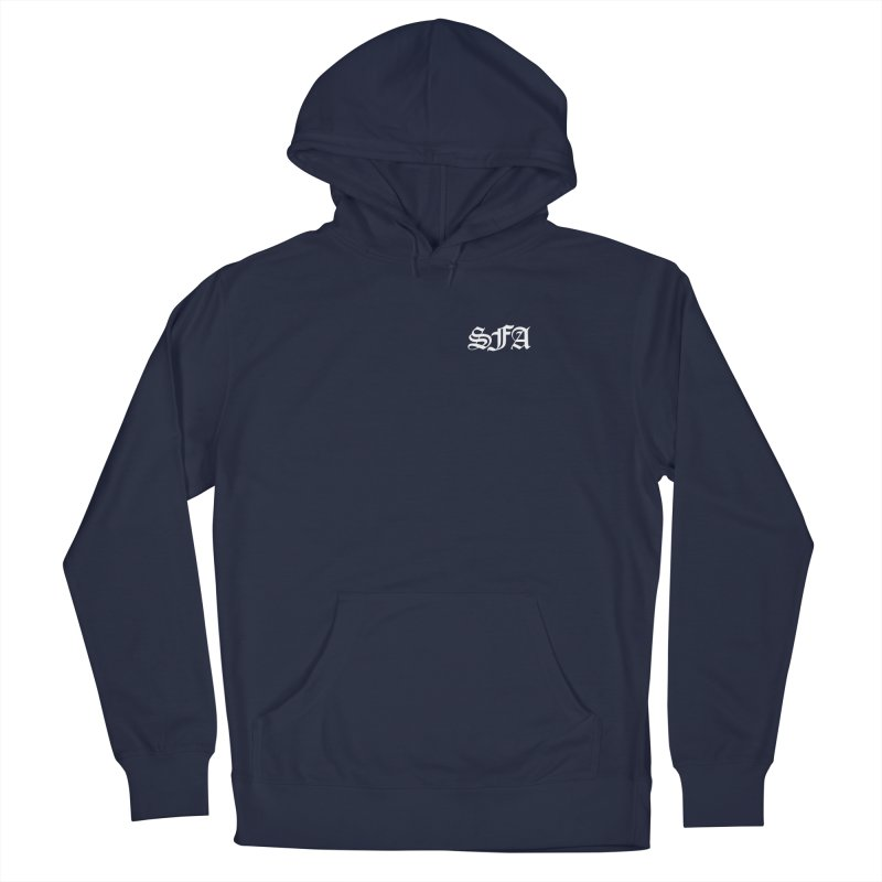 SFA (white) Men's Pullover Hoody by SMALLFRY ARMY GENERAL STORE