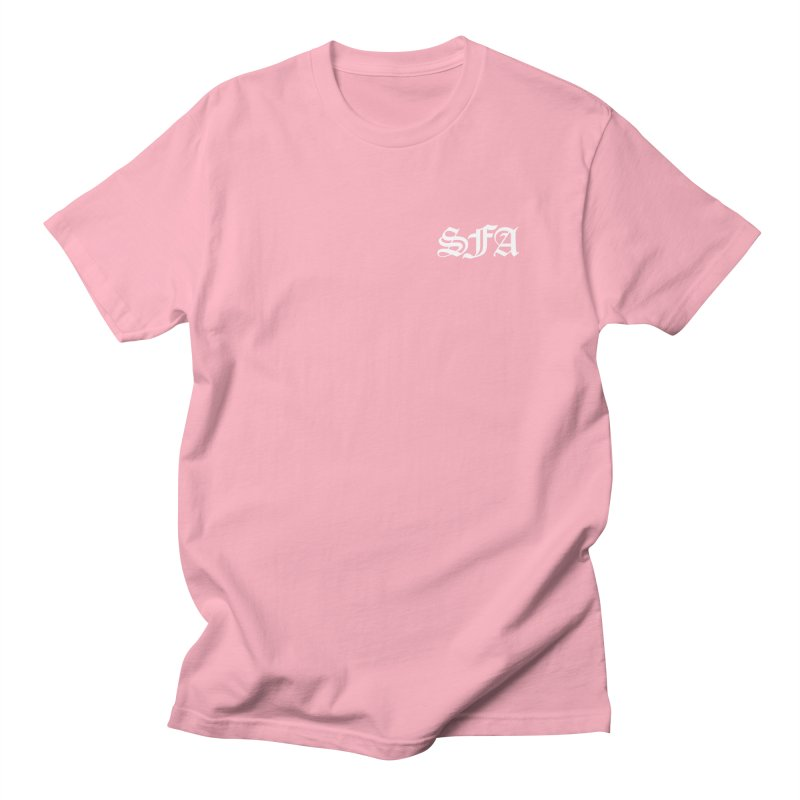 SFA (white) Men's T-Shirt by SMALLFRY ARMY GENERAL STORE