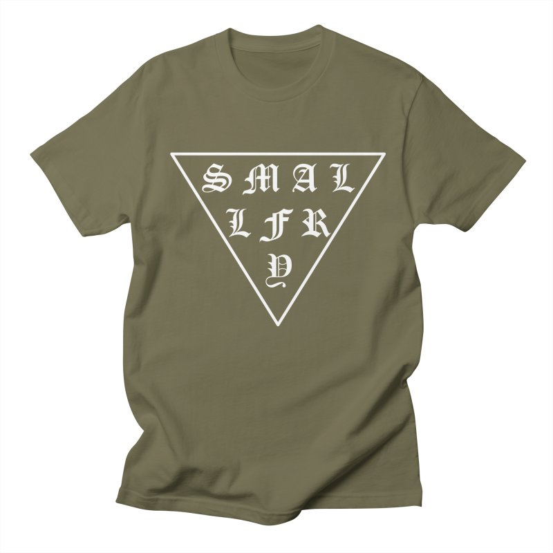 Tri (white) in Men's Regular T-Shirt Olive by SMALLFRY ARMY GENERAL STORE