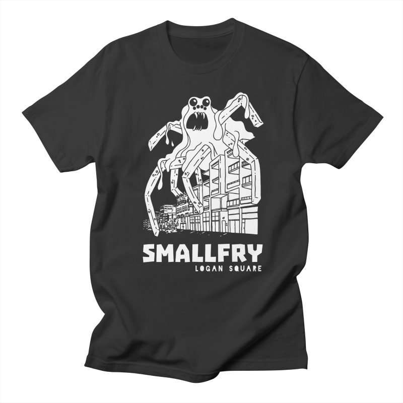 Frymonster (white) in Men's Regular T-Shirt Smoke by SMALLFRY ARMY GENERAL STORE