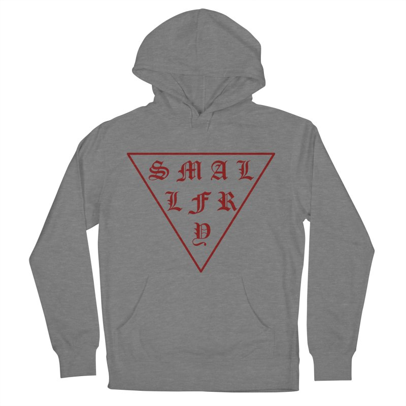 Tri (maroon) in Men's French Terry Pullover Hoody Heather Graphite by SMALLFRY ARMY GENERAL STORE
