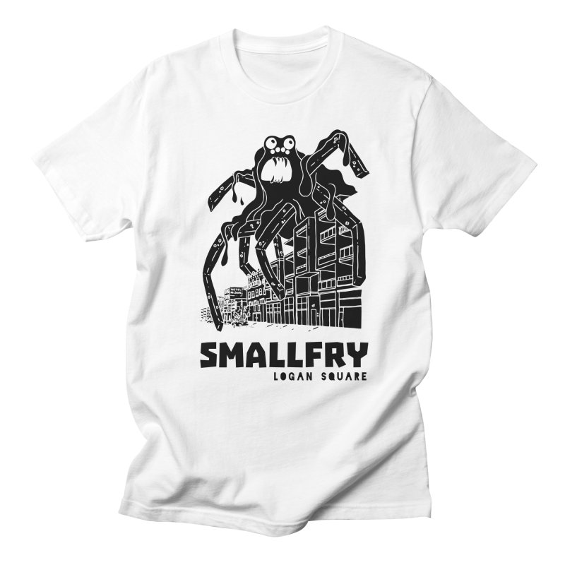 Frymonster (black) in Men's Regular T-Shirt White by SMALLFRY ARMY GENERAL STORE