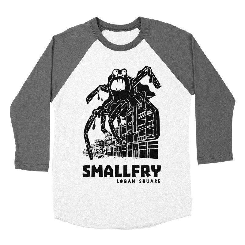 Frymonster (black) Women's Baseball Triblend Longsleeve T-Shirt by SMALLFRY ARMY GENERAL STORE
