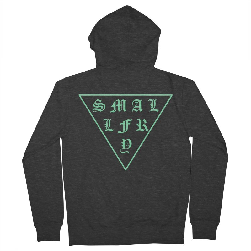 Tri (seafoam) Men's Zip-Up Hoody by SMALLFRY ARMY GENERAL STORE