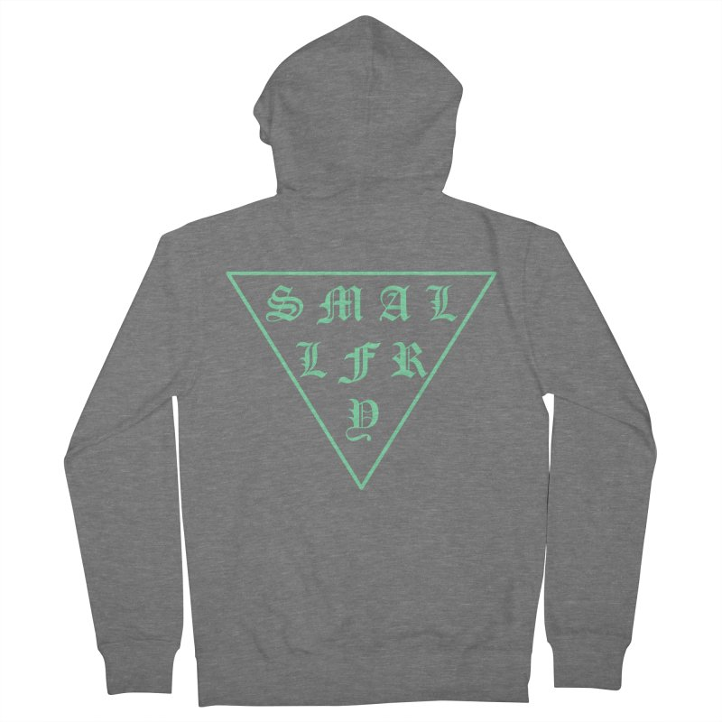 Tri (seafoam) Men's French Terry Zip-Up Hoody by SMALLFRY ARMY GENERAL STORE