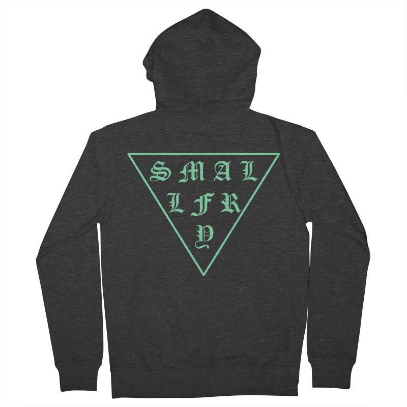 Tri (seafoam) in Men's French Terry Zip-Up Hoody Smoke by SMALLFRY ARMY GENERAL STORE