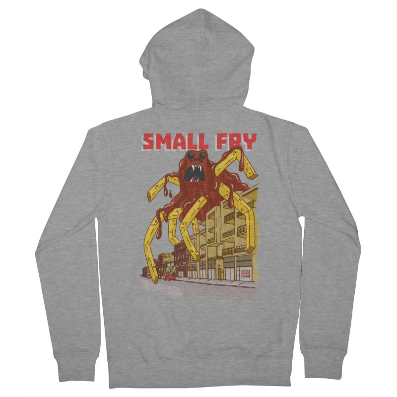 Frymonster Men's French Terry Zip-Up Hoody by SMALLFRY ARMY GENERAL STORE