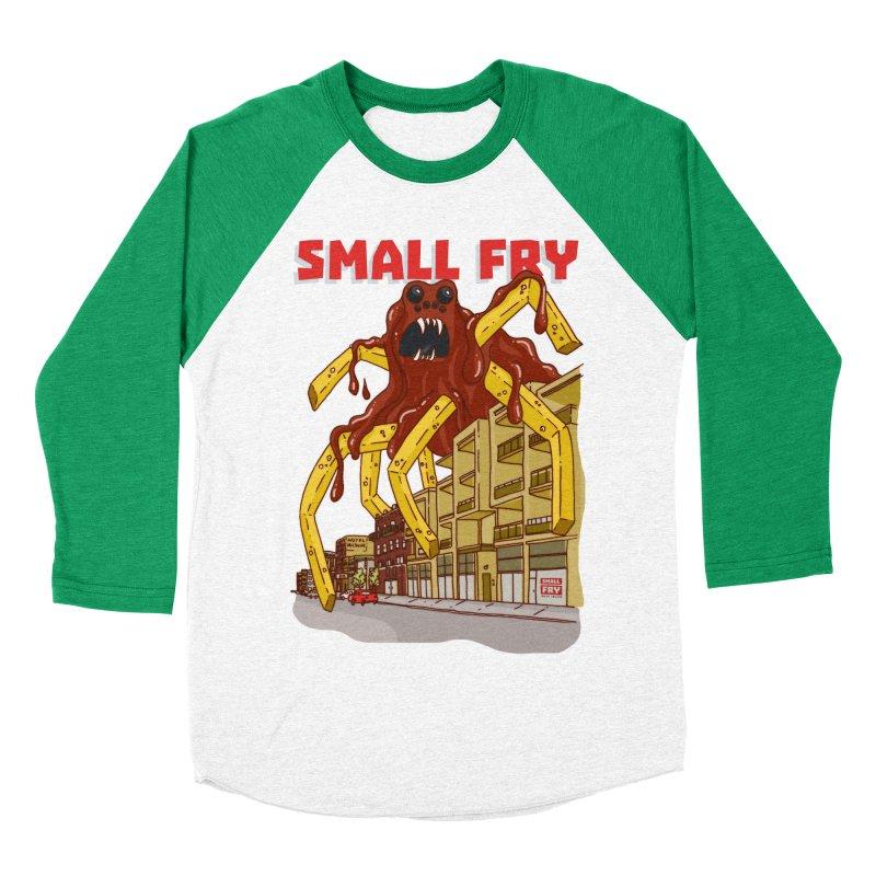 Frymonster Women's Baseball Triblend Longsleeve T-Shirt by SMALLFRY ARMY GENERAL STORE