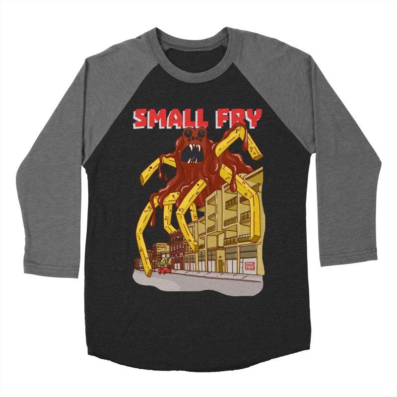 Frymonster Men's Baseball Triblend Longsleeve T-Shirt by SMALLFRY ARMY GENERAL STORE