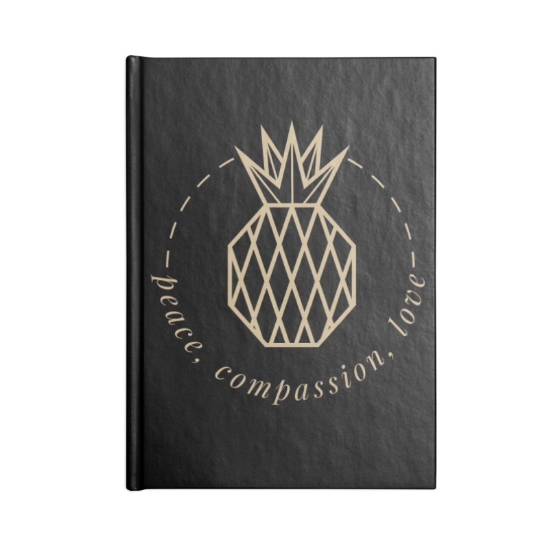 Peace Compassion Love Accessories Lined Journal Notebook by Smart Boy Merch