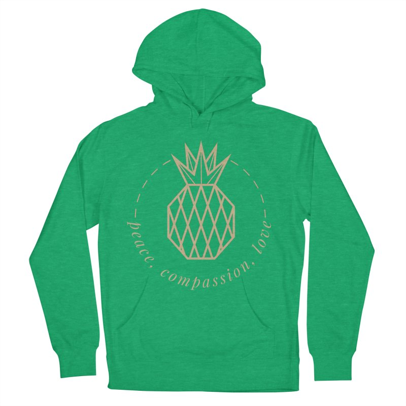 Peace Compassion Love Men's French Terry Pullover Hoody by Smart Boy Merch