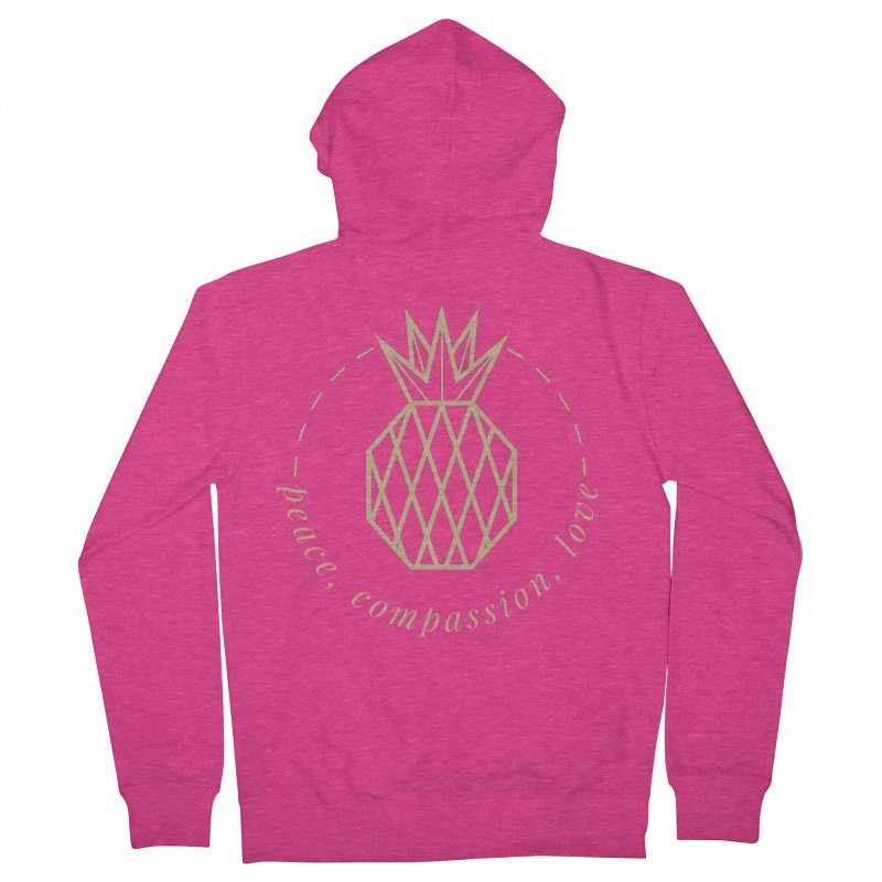 Peace Compassion Love Women's French Terry Zip-Up Hoody by Smart Boy Merch