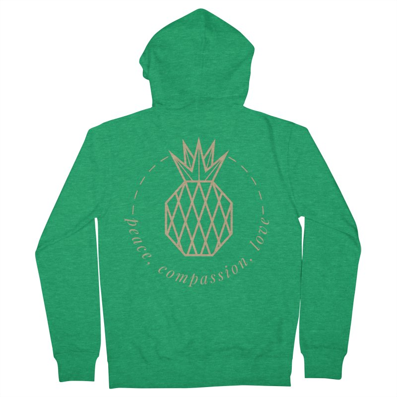 Peace Compassion Love Men's Zip-Up Hoody by Smart Boy Merch