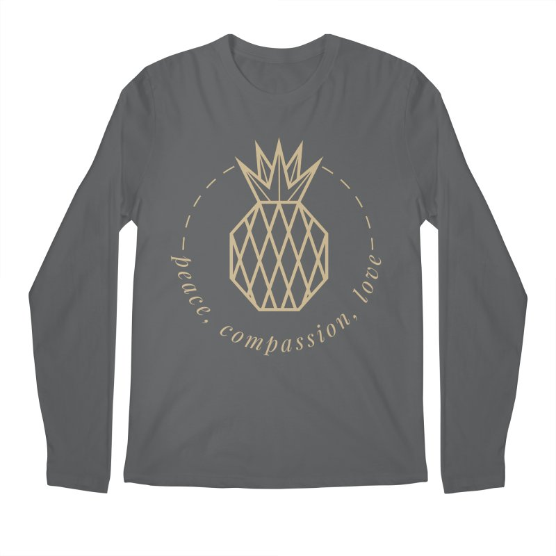 Peace Compassion Love Men's Longsleeve T-Shirt by Smart Boy Merch