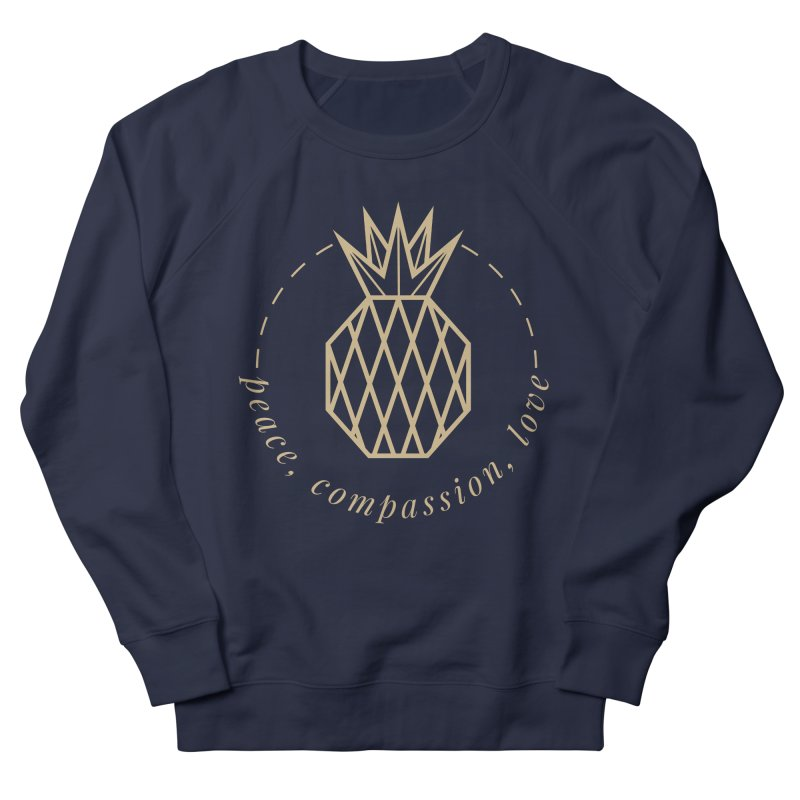 Peace Compassion Love Women's French Terry Sweatshirt by Smart Boy Merch