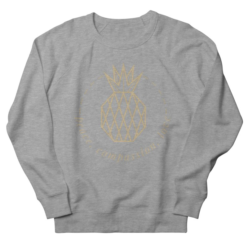 Peace Compassion Love Men's French Terry Sweatshirt by Smart Boy Merch