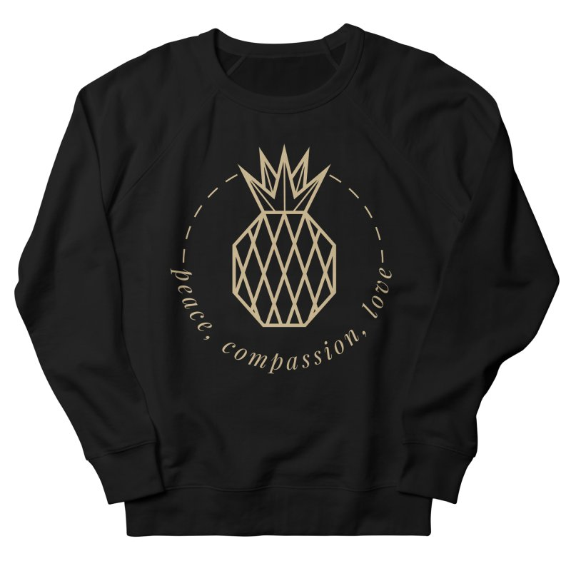 Peace Compassion Love in Men's French Terry Sweatshirt Black by Smart Boy Merch