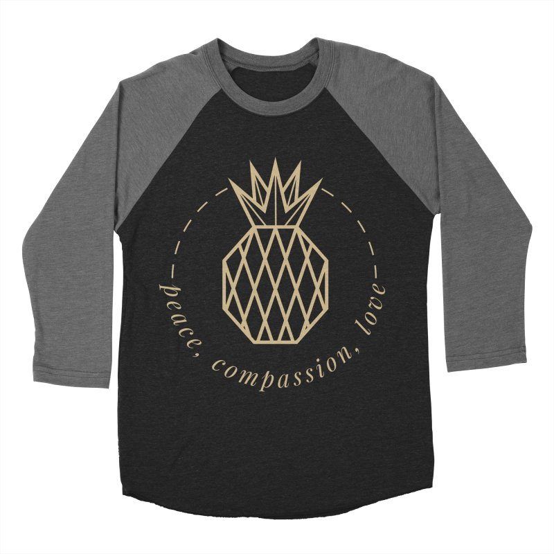 Peace Compassion Love Men's Baseball Triblend Longsleeve T-Shirt by Smart Boy Merch