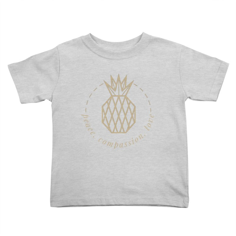 Peace Compassion Love Kids Toddler T-Shirt by Smart Boy Merch