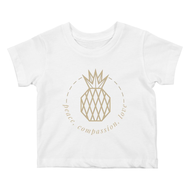 Peace Compassion Love Kids Baby T-Shirt by Smart Boy Merch