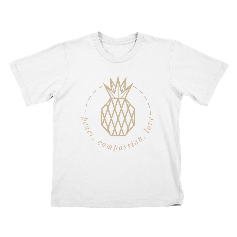 Peace Compassion Love Kids T-Shirt by Smart Boy Merch