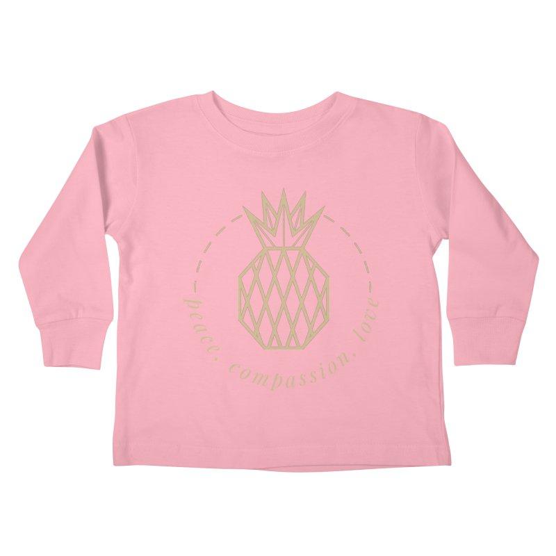 Peace Compassion Love Kids Toddler Longsleeve T-Shirt by Smart Boy Merch