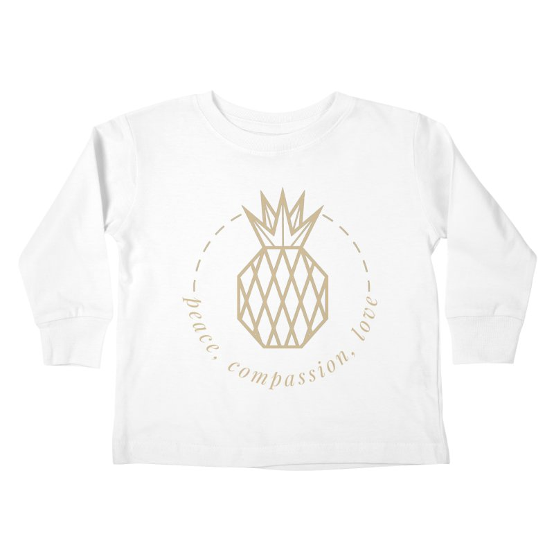 Peace Compassion Love Kids Toddler Longsleeve T-Shirt by Smart Boy Merch