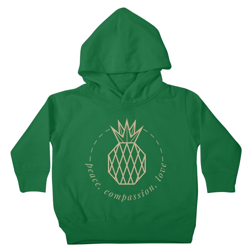 Peace Compassion Love Kids Toddler Pullover Hoody by Smart Boy Merch