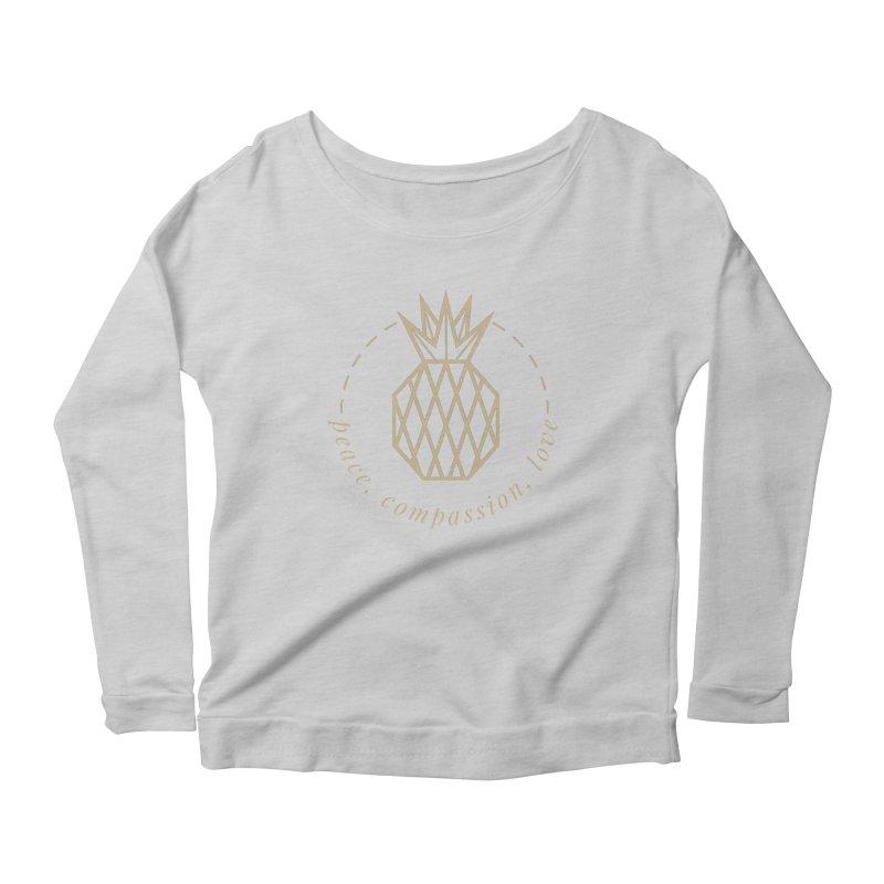Peace Compassion Love Women's Scoop Neck Longsleeve T-Shirt by Smart Boy Merch