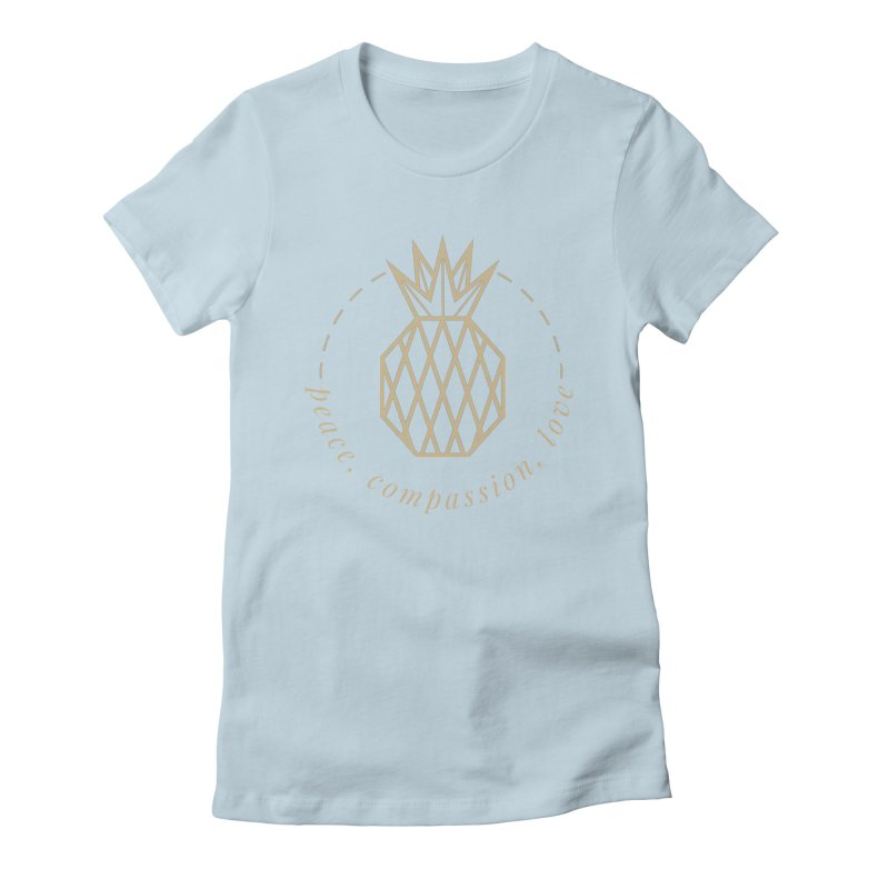 Peace Compassion Love Women's Fitted T-Shirt by Smart Boy Merch