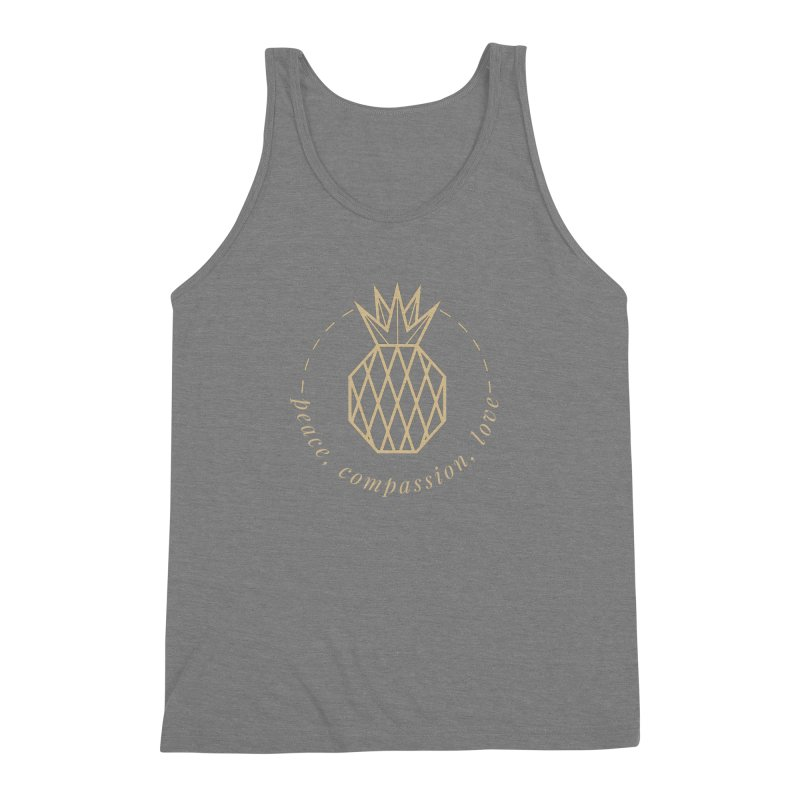 Peace Compassion Love Men's Triblend Tank by Smart Boy Merch