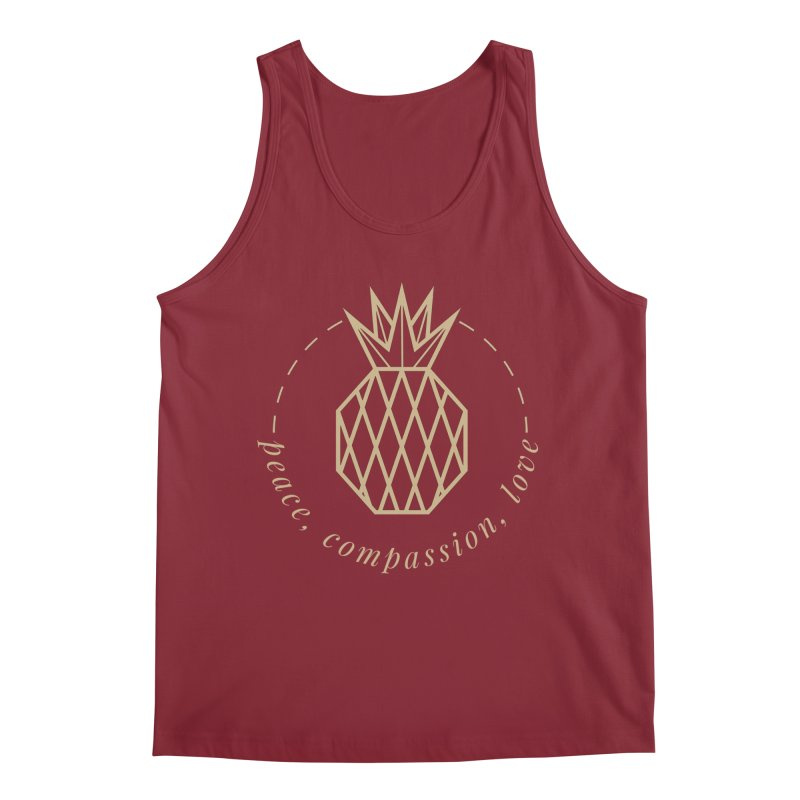 Peace Compassion Love Men's Tank by Smart Boy Merch