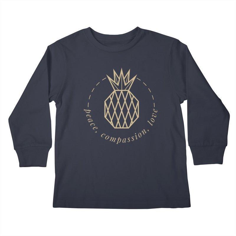 Peace Compassion Love Kids Longsleeve T-Shirt by Smart Boy Merch